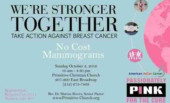 Mammogram Van - flyer