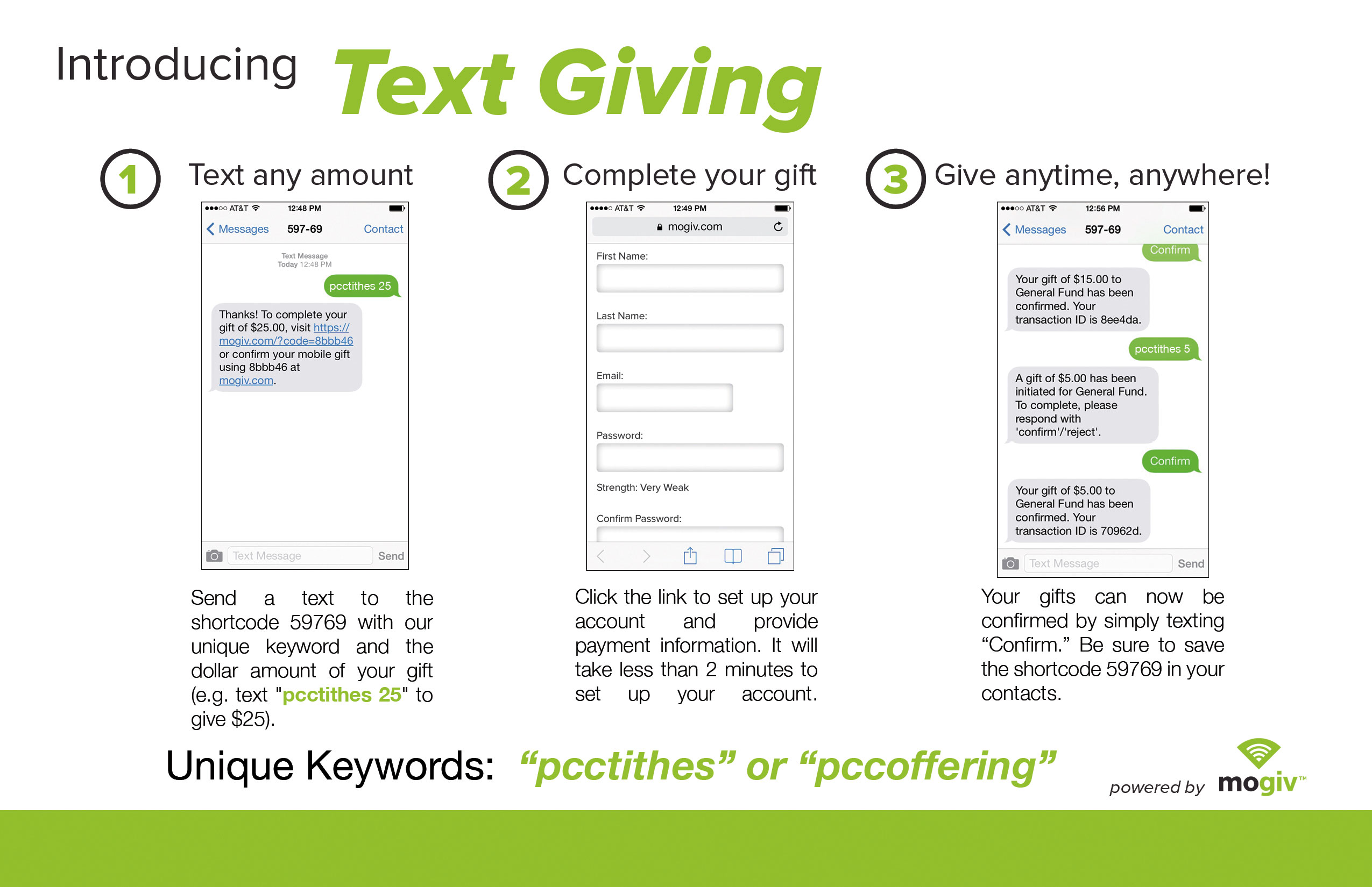 PCC-Text-Giving-Explained